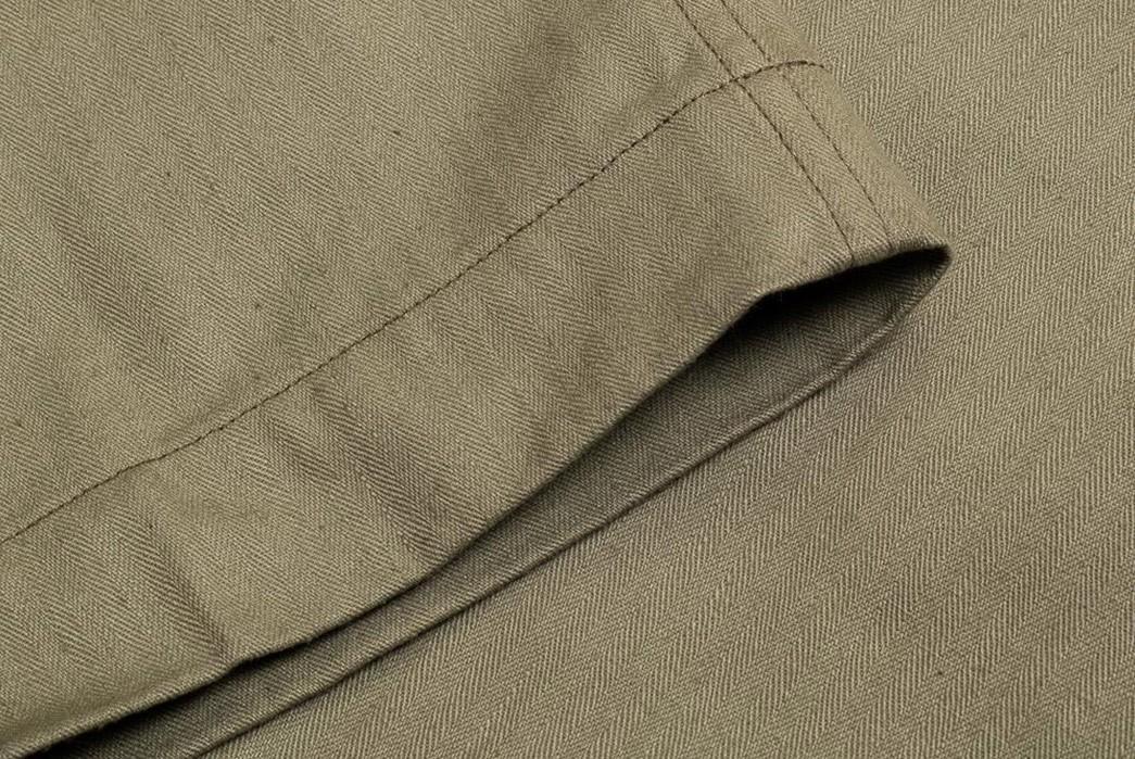 Warehouse-&-Co.'s-Lot-1217-M-42-HBT-Pants-Are-Far-From-Drab-leg-selvedge