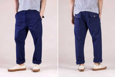 Companion-Denim-Breaks-Up-The-Drab-With-Its-Indigo-Fatigues-model-front-back