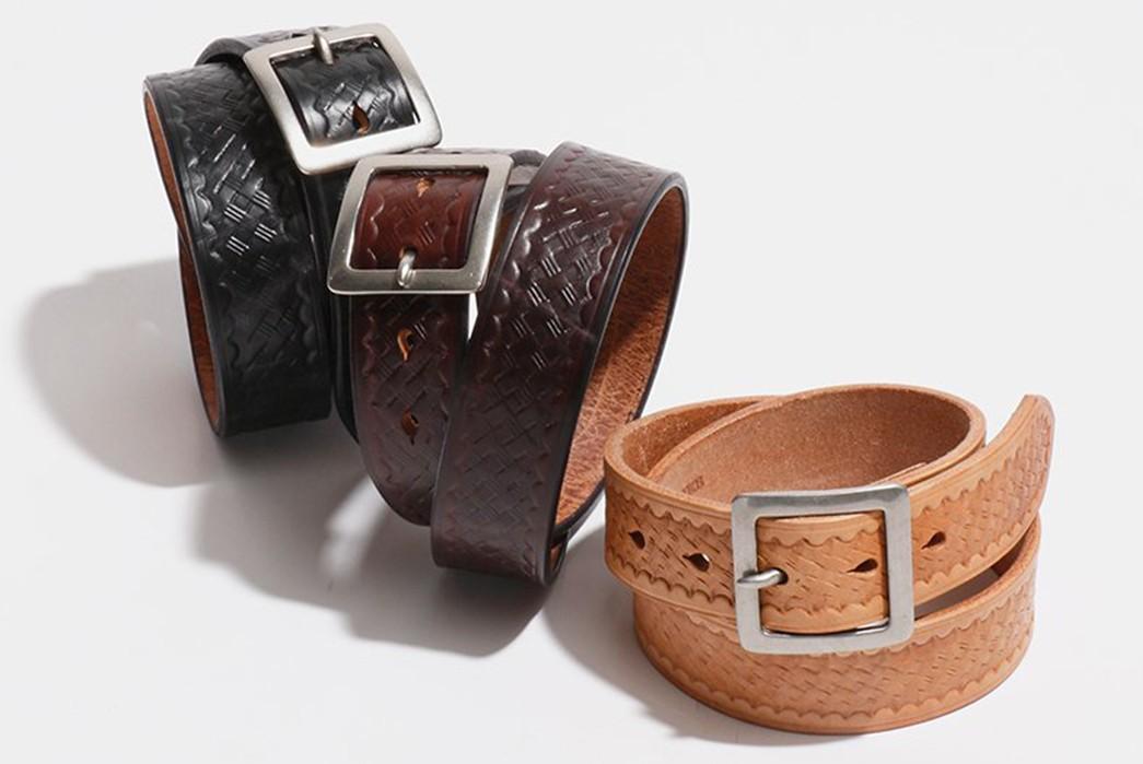 Decorated-Leather-Belts---Five-Plus--One-5)-Pherrow's-SSB-3-Embossed-Belt