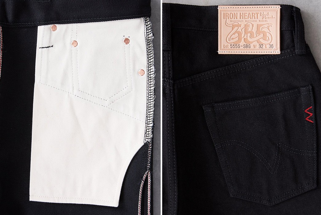 Fade-To-Grey-With-Iron-Heart's-555S-SBG-Jeans-inside-pocket-bag-and-back-pocket-and-leather-patch