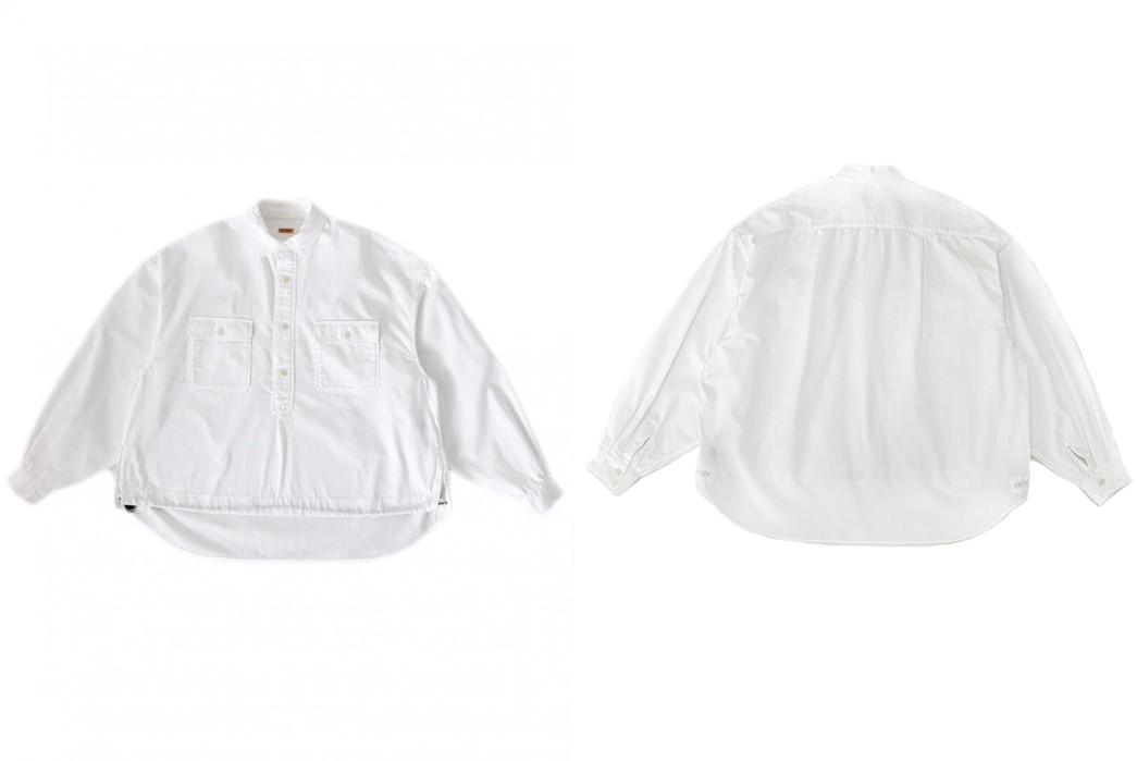 Pop-Over-Kapital's-Herringbone-Twill-Shirt-Anorak-front-back