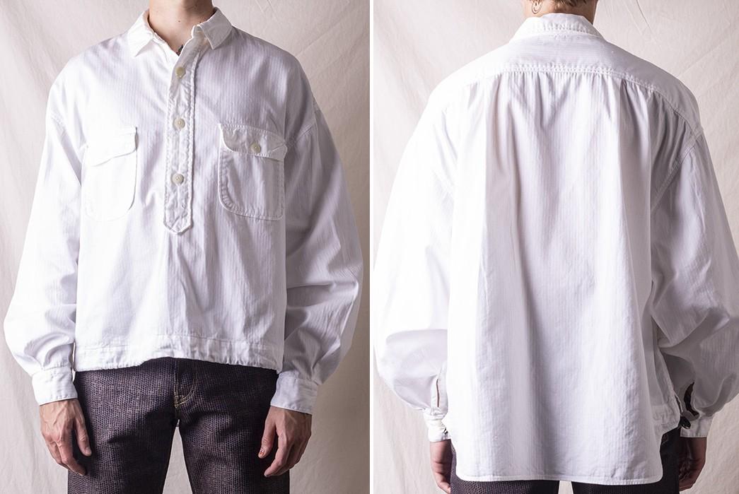Pop-Over-Kapital's-Herringbone-Twill-Shirt-Anorak-model-front-back