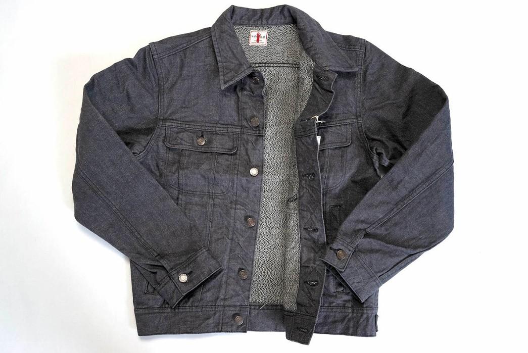 Samurai-Serves-Up-An-Inky-Selvedge-Denim-Rider-Jacket-In-Broken-Twill-front-open