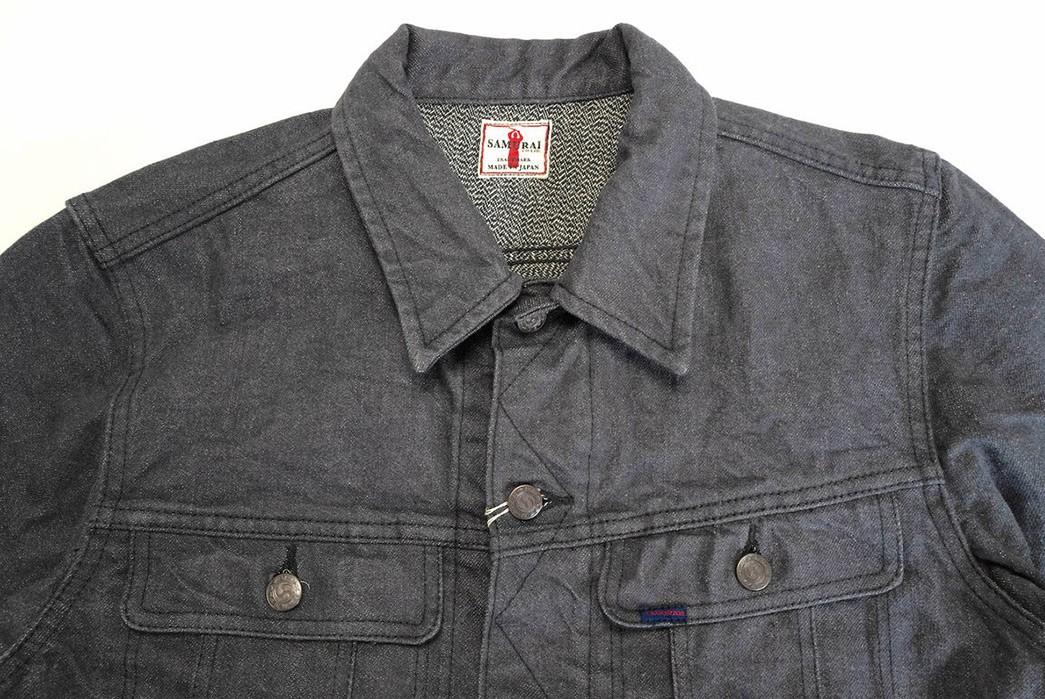 Samurai-Serves-Up-An-Inky-Selvedge-Denim-Rider-Jacket-In-Broken-Twill-front-top