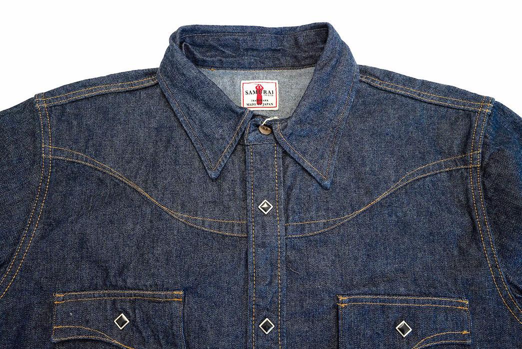 Samurai's-10.5-oz.-Type-2-Western-Shirt-Is-A-Cut-Above-front-top