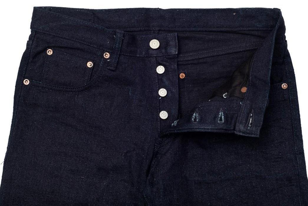 Tighten-Up-With-The-Burgus-Plus-Lot.-850-Indigo-x-Black-15.5oz-Jean-front-top-open