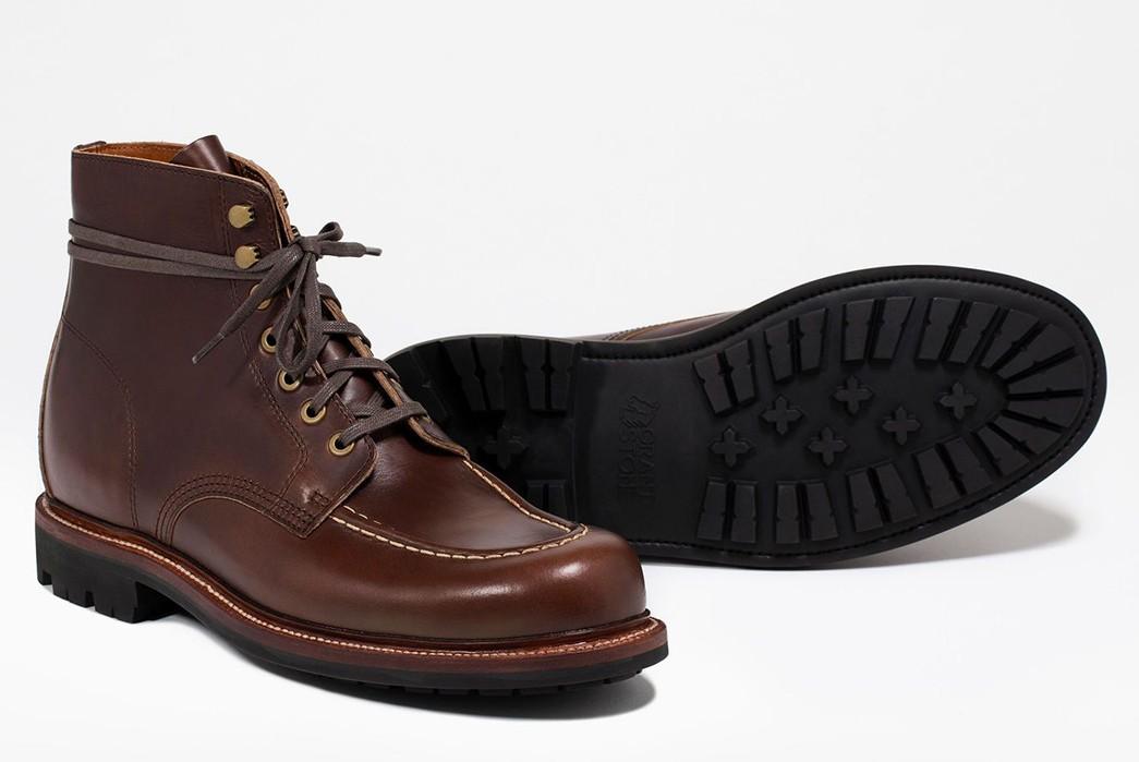 Commando-Sole-Boots---Five-Plus-One-3)-Grant-Stone-Brass-Boot-in-Crimson-Chromexcel