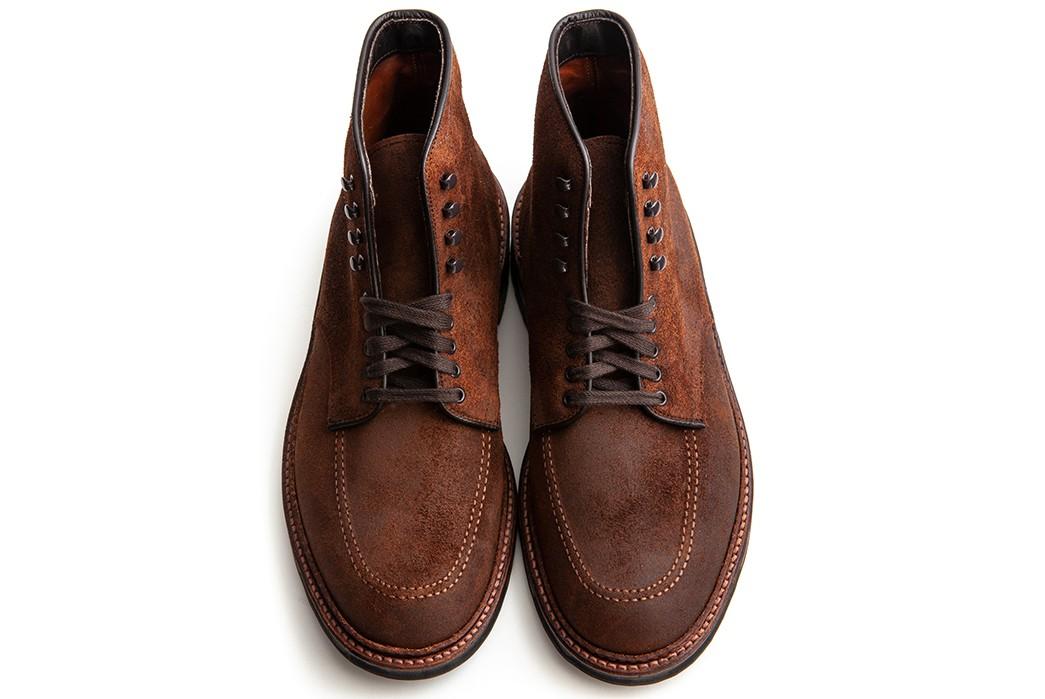Commando-Sole-Boots---Five-Plus-One-4)-Alden-Indy-Boot-in-Reverse-Tobacco-Chamois