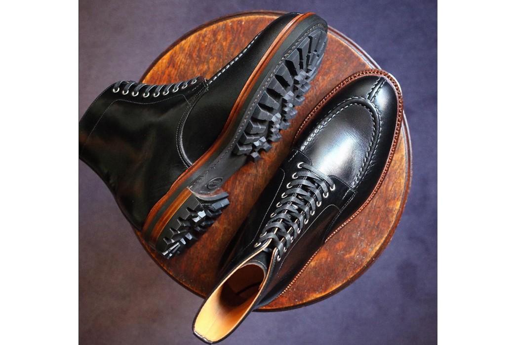 Commando-Sole-Boots---Five-Plus-One-Plus-One---Joe-Works-Shoemaker-Black-French-CalfTanker