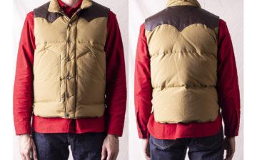 Go-Full-Fargo-With-Sugar-Cane's-Leather-Yoke-Down-Vest-model-front-back