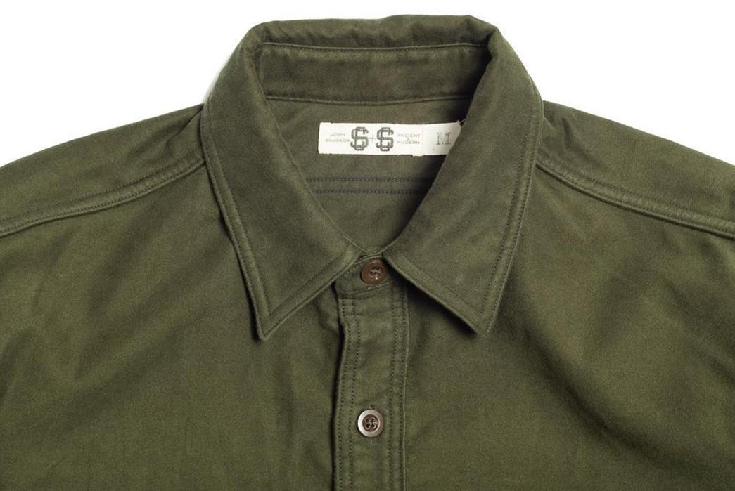 John-Gluckow's-Everyday-Work-Shirt-Is-Your-Daily-Moleskin-Armour-front-collar