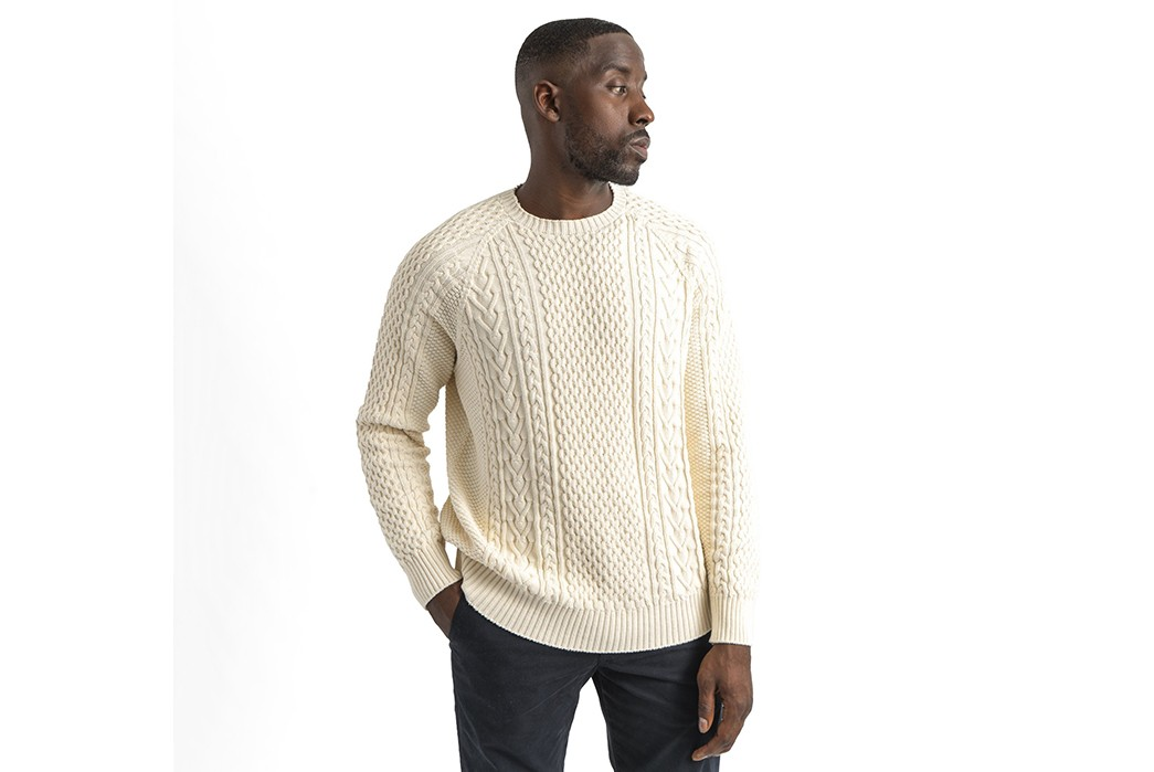 You-Won't-Need-To-Fish-For-Compliments-With-American-Trench's-Cotton-Fisherman-Sweater-model--front-2