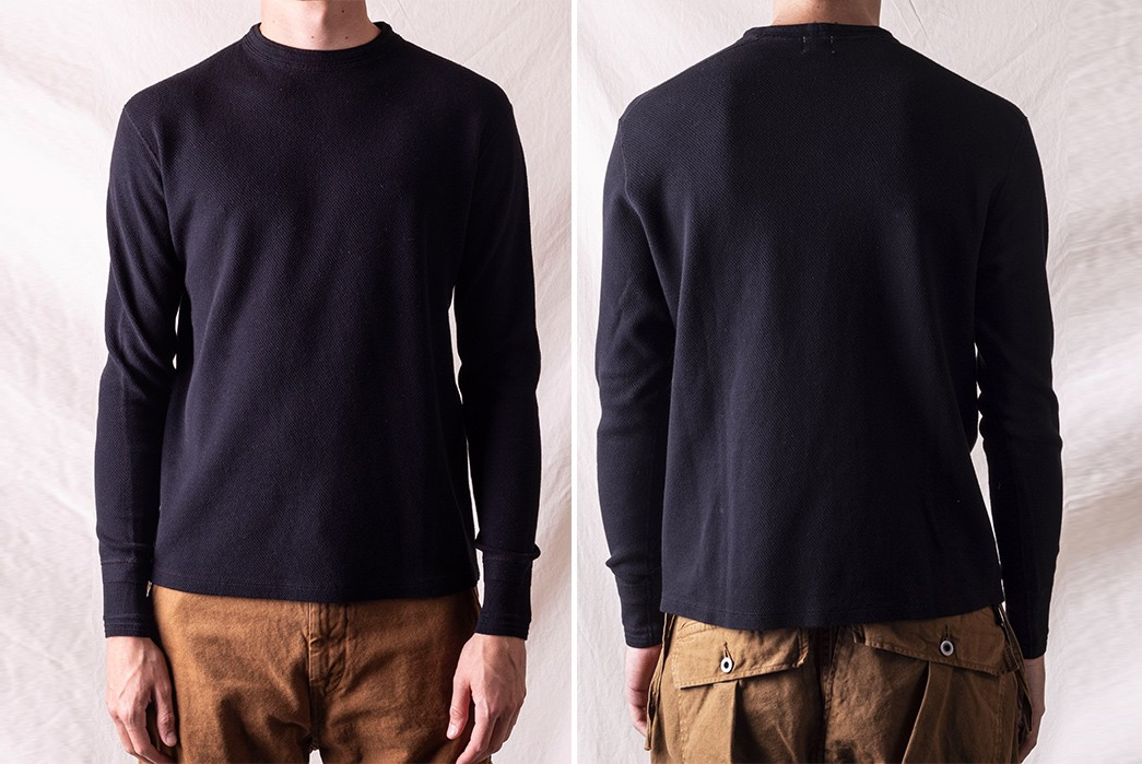 Prep-For-Cozy-Winter-Fits-With-Loop-&-Weft's-Fine-Aran-Honeycomb-Thermal-Crew-model-front-back