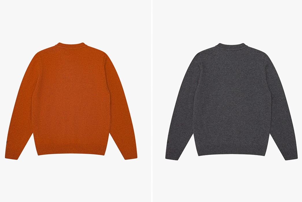 Storm-Your-Dorm-In-Knickerbocker's-'K'-Wool-Sweat-back-orange-and-grey